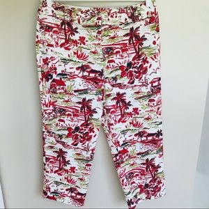 Northern Isles Red and White Capris Size 12